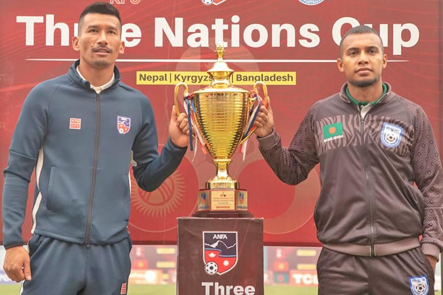 आज  त्रिदेशीय कपकाे फाइनल : 'नेपाल र बंगलादेशको लक्ष्य गोल गर्ने,  उपाधि जित्ने'