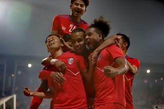 'थ्री नेशन्स कप  :  'नेपाल  बन्याे   च्याम्पियन'